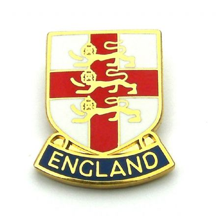 England 3 Lions Shield Lapel Badge